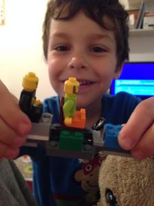 K lego men in plane
