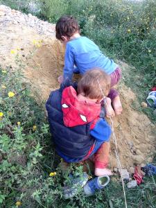 soil on feet