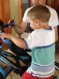 T's new bike